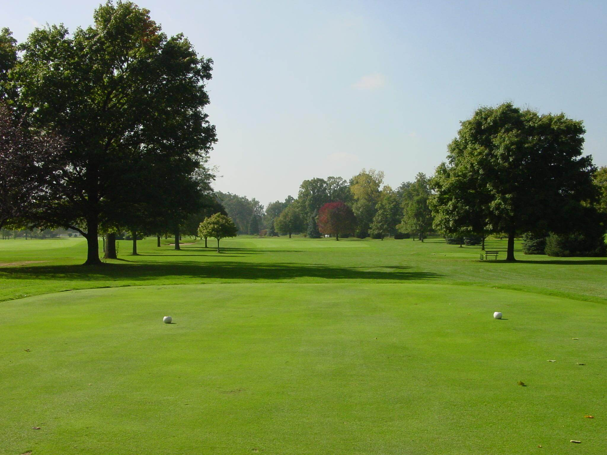 Hole 18 on the golf course